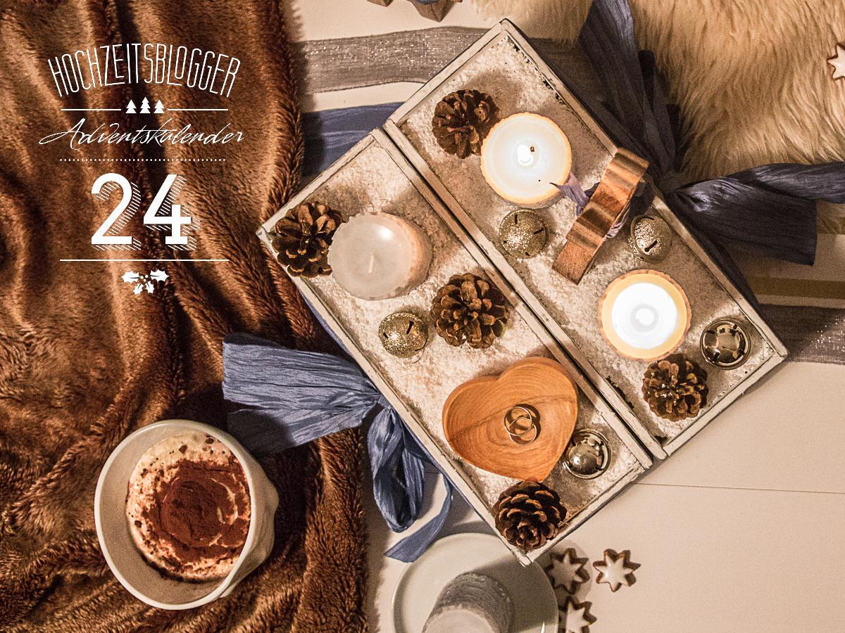 Adventskalender der Hochzeitsblogger, Türchen10: Ringschale aus Holz als Alternative zum klassischen Ringkissen, für eine freie Trauung bei Friederike Delong