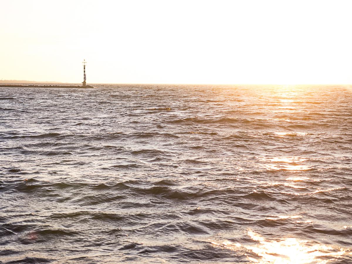 Friederike Delong auf Reisen am Brouwersdam in den Niederlanden