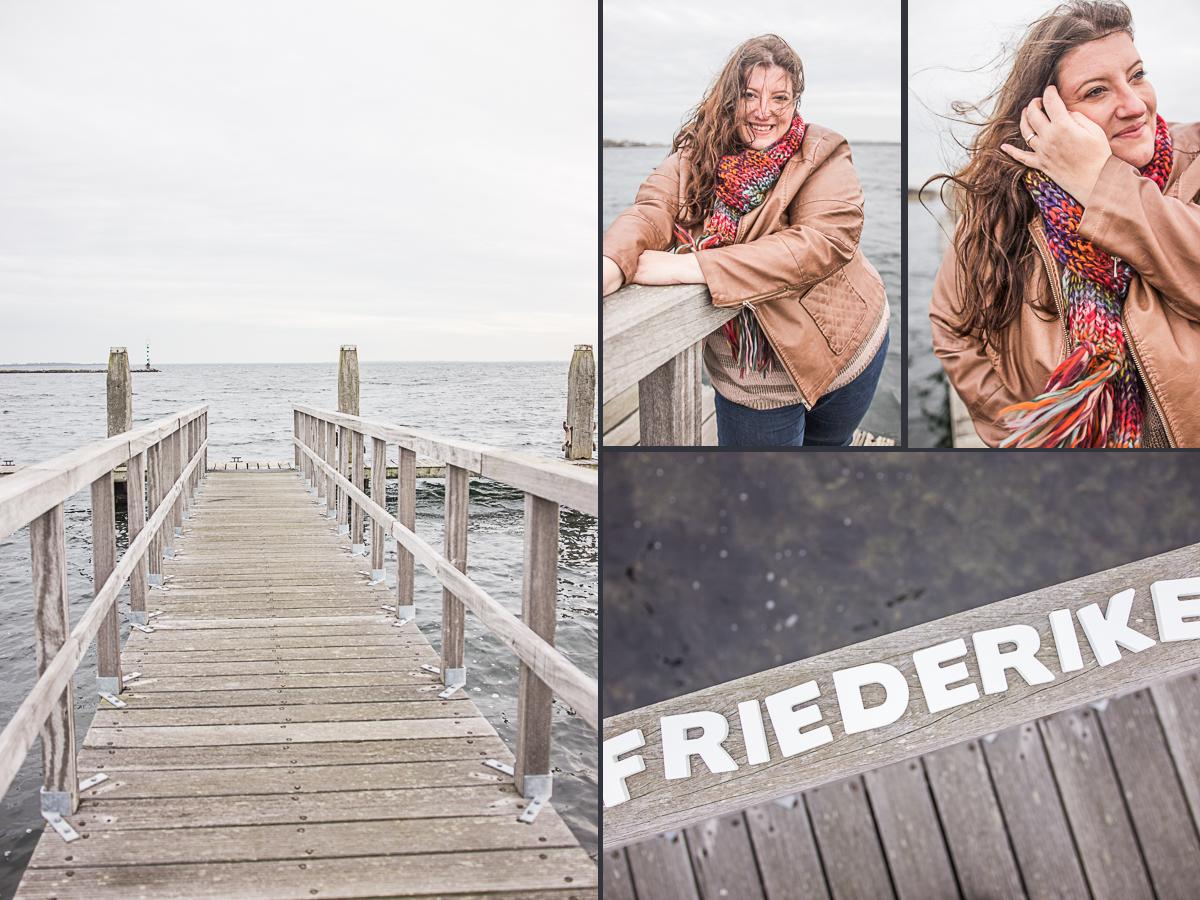 Friederike Delong im brouwersdam in den Niederlanden bei Ouddorp